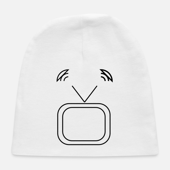Broadcast Baby Caps - tv - Baby Cap white