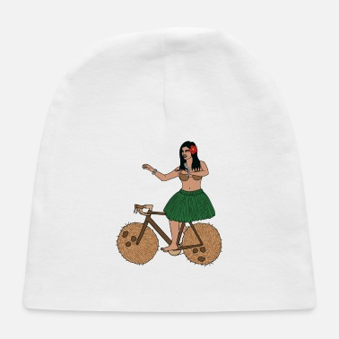 Hula Dancer Hula Dancer Riding Bike With Coconut Wheels - Baby Cap