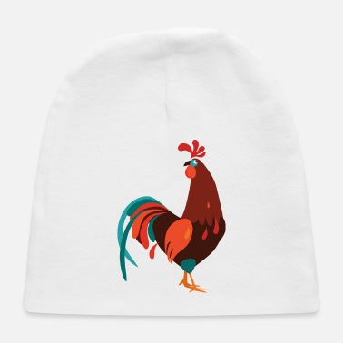 Rooster cartoon rooster - Baby Cap