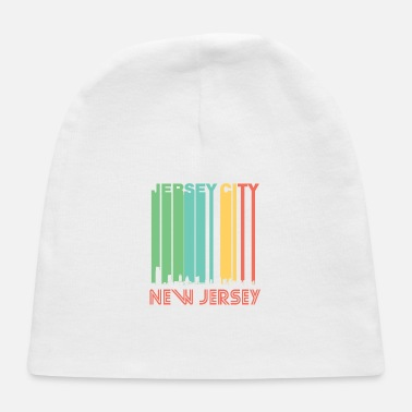 Jersey Girl Retro Jersey City New Jersey Skyline - Baby Cap