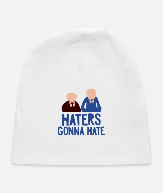 Movie Baby Hats - Haters Gonna Hate - Baby Cap white