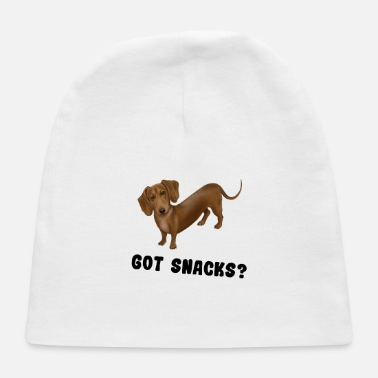 Dog Owner Baby Caps - Hund Dog - Dackel / Dachshund Got snacks - Baby Cap white