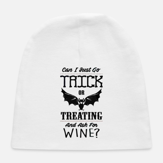 Game Baby Caps - Trick Or Treating amp Ask for Wine - Baby Cap white