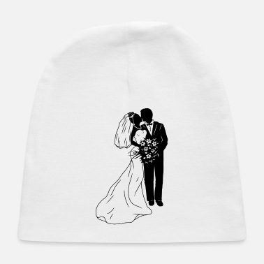 Bridal couple silhouette - Baby Cap