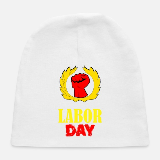 Symbol  Baby Caps - We Are Celebrating Labor Day Symbol - Baby Cap white