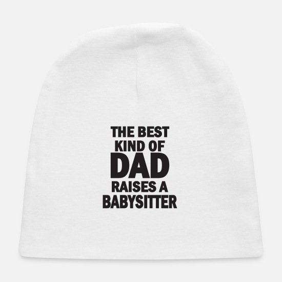 Mummy Baby Caps - the best kind of dad - Baby Cap white