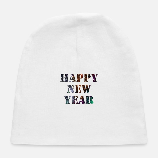 Gift Idea Baby Caps - Happy New Year Party Gift Idee - Baby Cap white
