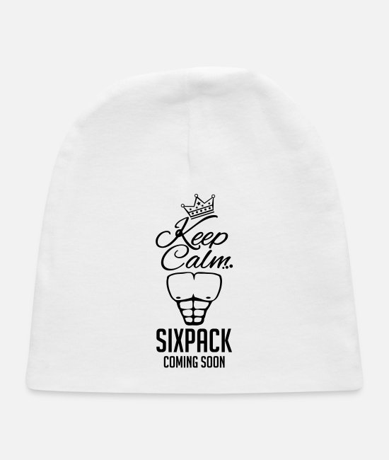 Training Baby Hats - keep_calm_sixpack_coming_gi1 - Baby Cap white