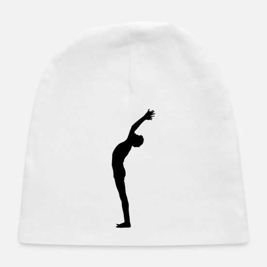 Illustration Baby Caps - Male Yoga Pose Silhouette 2 - Baby Cap white