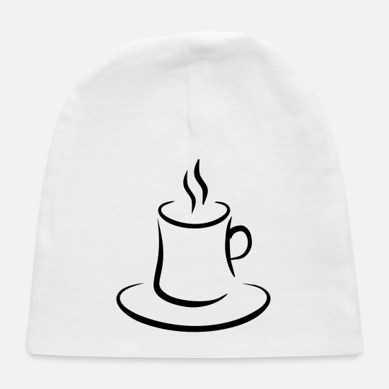 Coffee Baby Caps - coffee - Baby Cap white