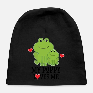 My Poppy Loves Me Grandchild Gift - Baby Cap
