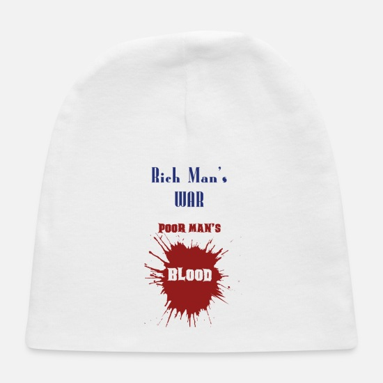 Special Forces Baby Caps - RICH MAN'S WAR POOR MAN'S BLOOD - Baby Cap white
