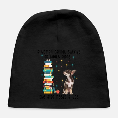 BOOK AND CHIHUAHUA - Baby Cap