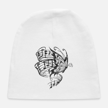 BUTTERLFY MUSIC NOTES - Baby Cap