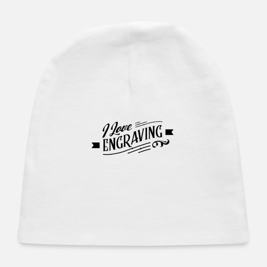 Team Baby Caps - Team Engravers Engraver Engraving Occupation - Baby Cap white