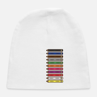 Afro Haiti Haitian Koule Yo Colored Pencils I Gift Idea - Baby Cap