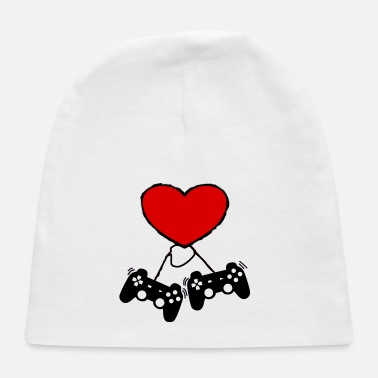 Video Gamer Valentines Day T-Shirt With Controller - Baby Cap