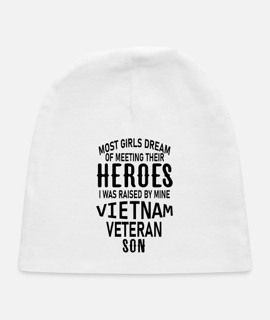 Vietnam Baby Hats - most girls dream of meeting their heroes i was rai - Baby Cap white