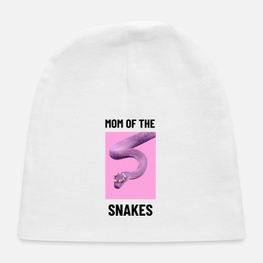 Grass Snake Snake Mother Mama gift idea Tshirt - Baby Cap