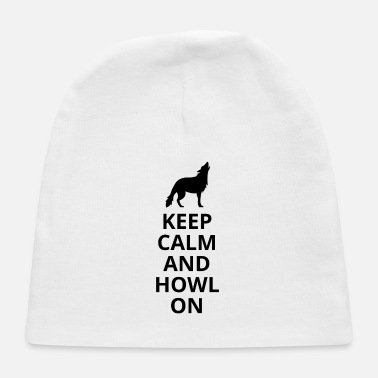 Grey Keep Calm And Howl On - Wolf - Baby Cap
