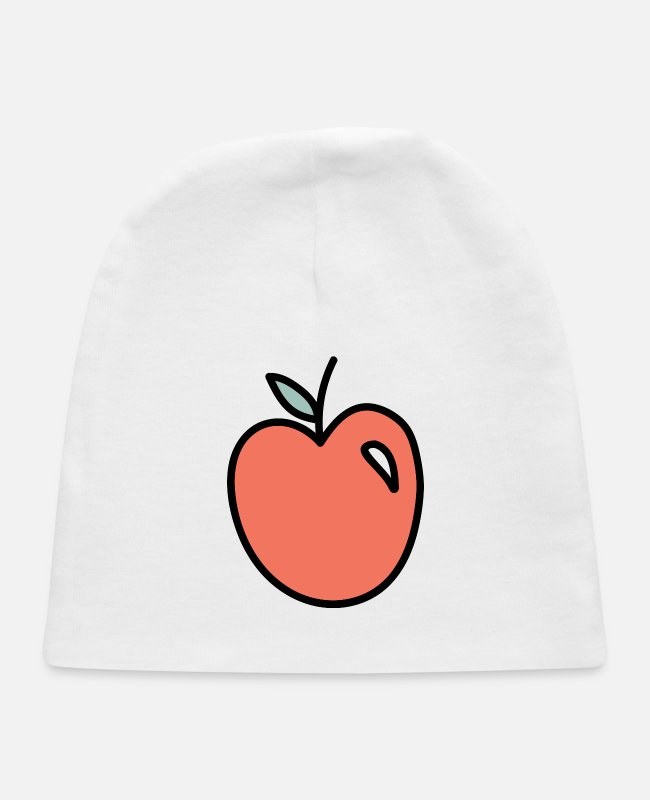 Money Baby Hats - element apple time - Baby Cap white