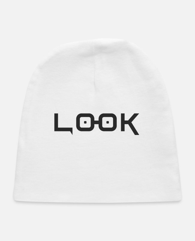 Eyelashes Baby Hats - Look - Baby Cap white