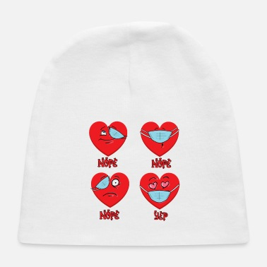 Sunglasses Valentines Day 2021 Heart Wearing Mask Wrong Funny - Baby Cap
