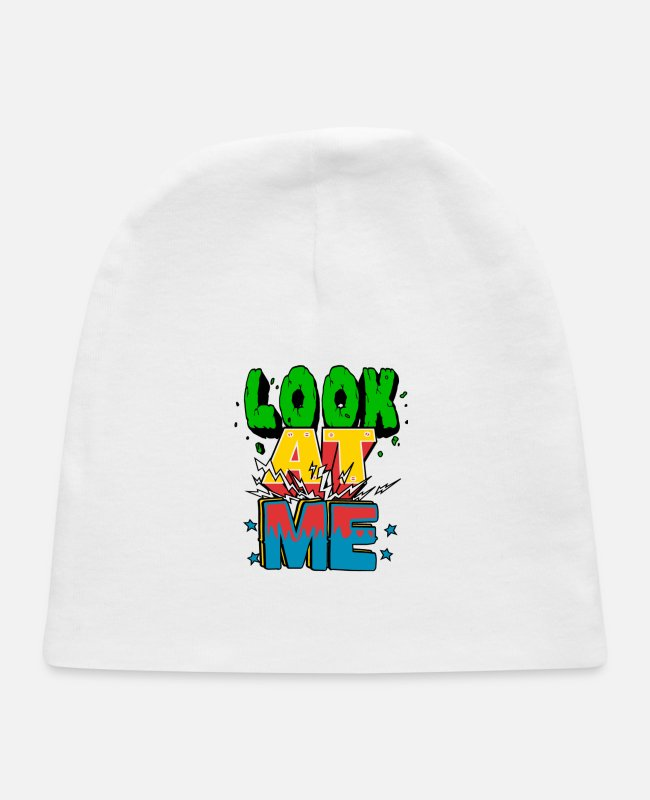 Vacation Baby Hats - Look my eyes - Baby Cap white