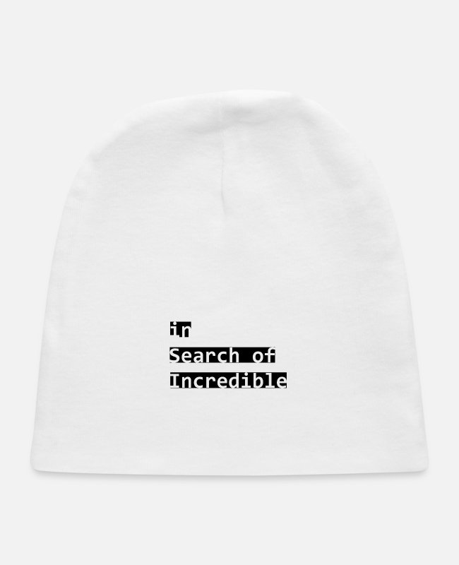 Quote Baby Hats - Design - Baby Cap white