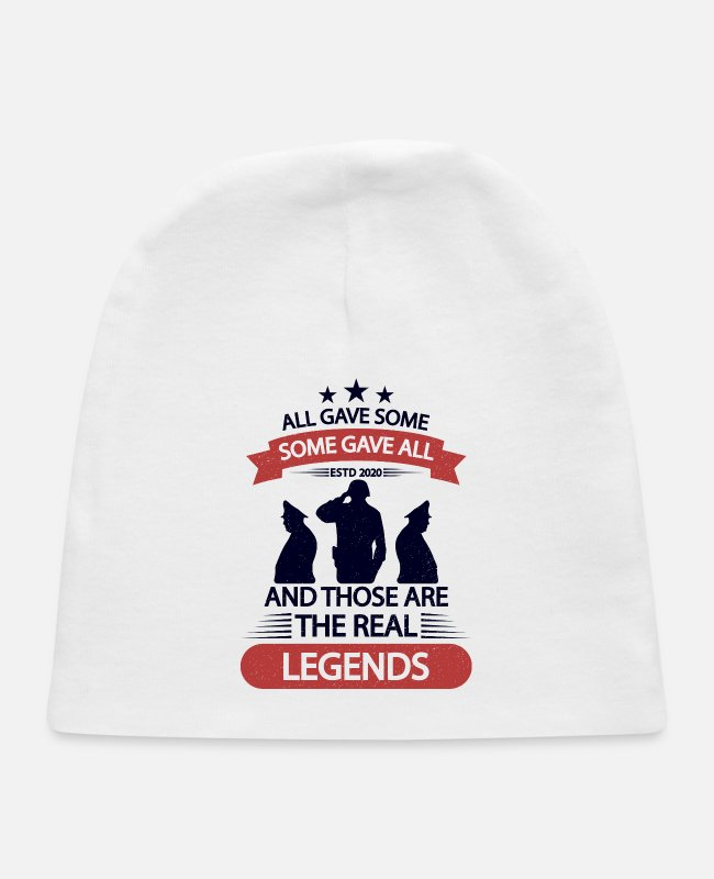 Usa Baby Hats - All Gave Some Some Gave All - Memorial Day - Baby Cap white