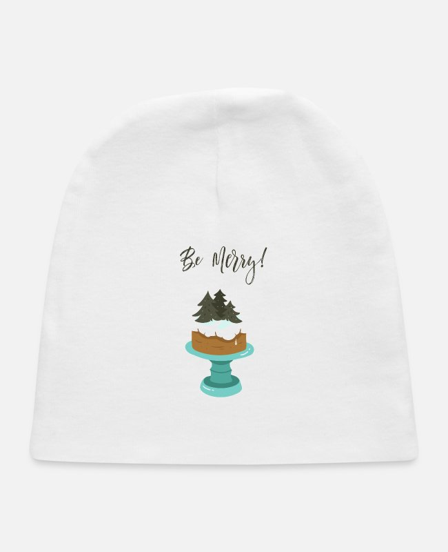 Quote Baby Hats - Be Messy - Baby Cap white