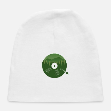 Turn Table Vinyl Record Forest Music Lover Retro Gift Idea - Baby Cap