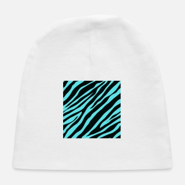 Zebra Stripes Safari Fashion Turquoise Aqua Blue Zebra Stripes - Baby Cap