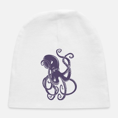 Marine Animal octopus-ocean-marine-animal-sea - Baby Cap
