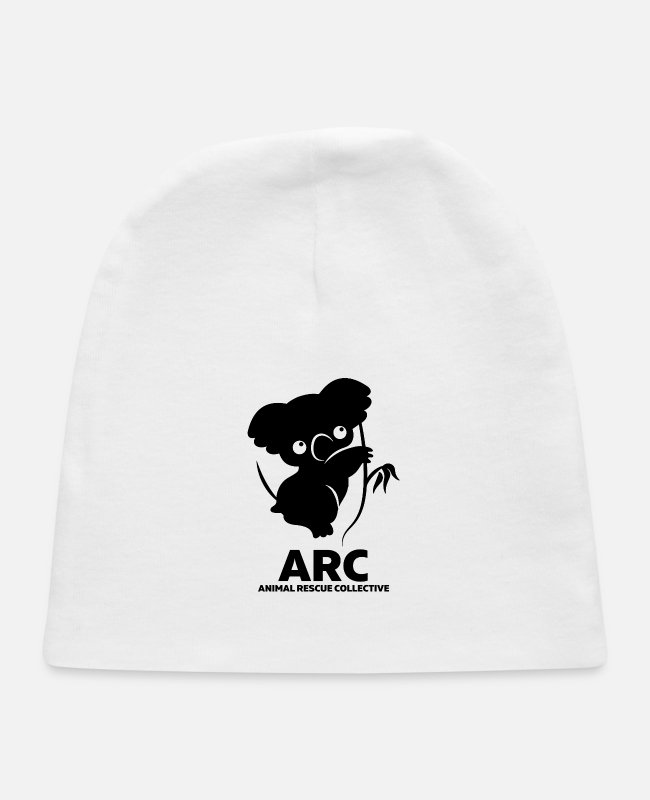 Lover Baby Hats - animal lovers ARC - Baby Cap white