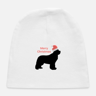 Christmas Design Newfie with Santa Hat - Baby Cap
