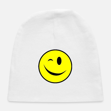 Squint Winking Smiley yellow - Baby Cap