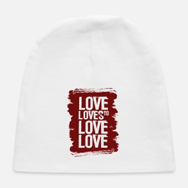 Lovely Love loves to love love - Baby Cap