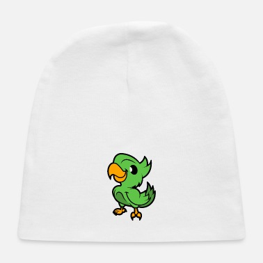 Green Island Green Parrot - Cartoon Animals - Cartoon Island - Baby Cap