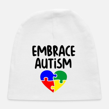 Embrace Autism Embrace Autism puzzle pieces colorful - Baby Cap