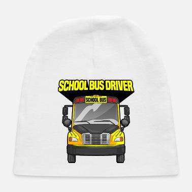 Yellow School Bus Driver Driving Yellow Bus - Baby Cap