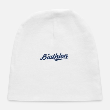 Biathlon Dad Biathlon Biathlons Sports Biathlon Runner Athlete - Baby Cap