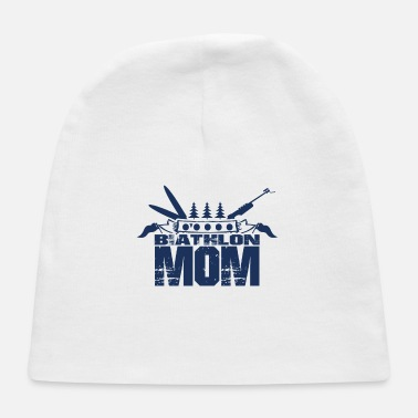 Biathlon Dad Sports Athlete Biathlon Runner Biathlon Biathlons - Baby Cap