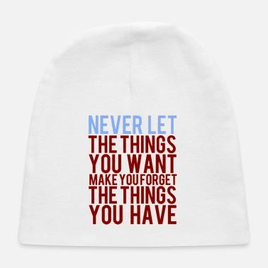 Inspirational Quotes Inspirational Quote - Baby Cap