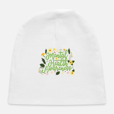 Anxiety Mental Health Awareness Month Retro Positive Quote - Baby Cap