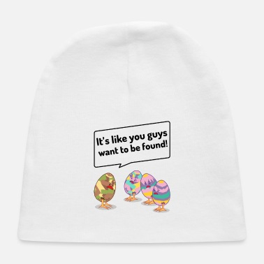 Armed Forces Funny Egg Hunt Saying Easter Easter Egg - Baby Cap