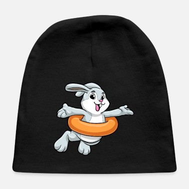 Swimming Course Rabbit at Swimming with Swimming ring - Baby Cap