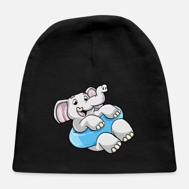 Swimming Course Elephant at Swimming with Swimming ring - Baby Cap