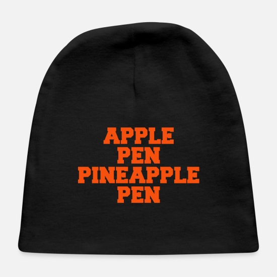 Song Baby Caps - APPLE PINAPPLE PEN - Baby Cap black