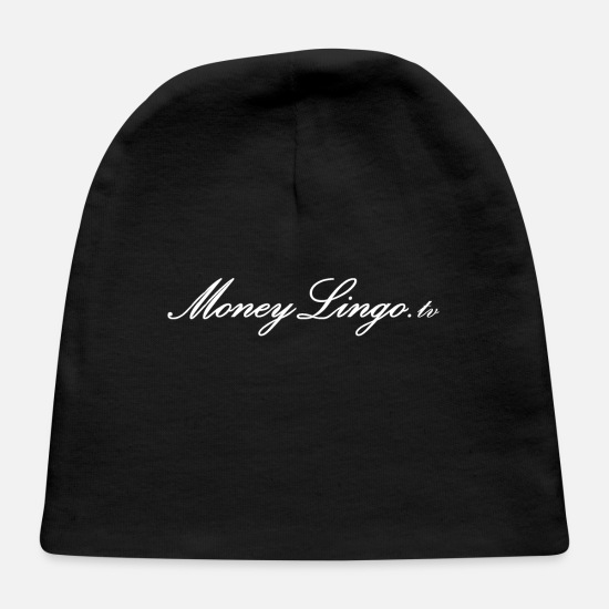 Tv Baby Caps - MoneyLingo tv white logo - Baby Cap black